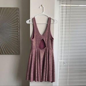 Urban Outfitters Dresses - Urban Outfitters Pink Metallic Party Dress